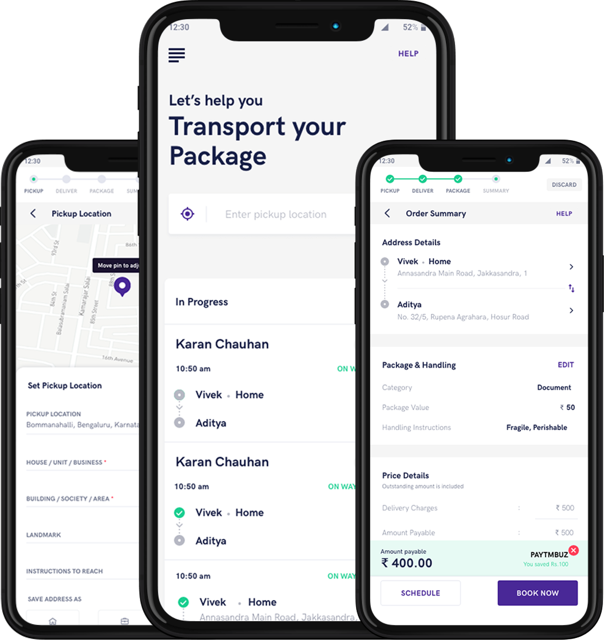 pidge courier services app