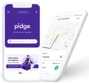 Pidge mobile app